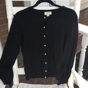 2/20 Black Cardigan Sweater W Crystal Buttons